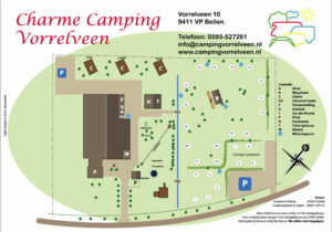 Plattegrond camping Vorrelveen Beilen Drenthe