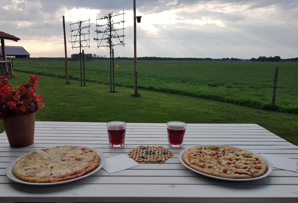 pizza met uitzicht