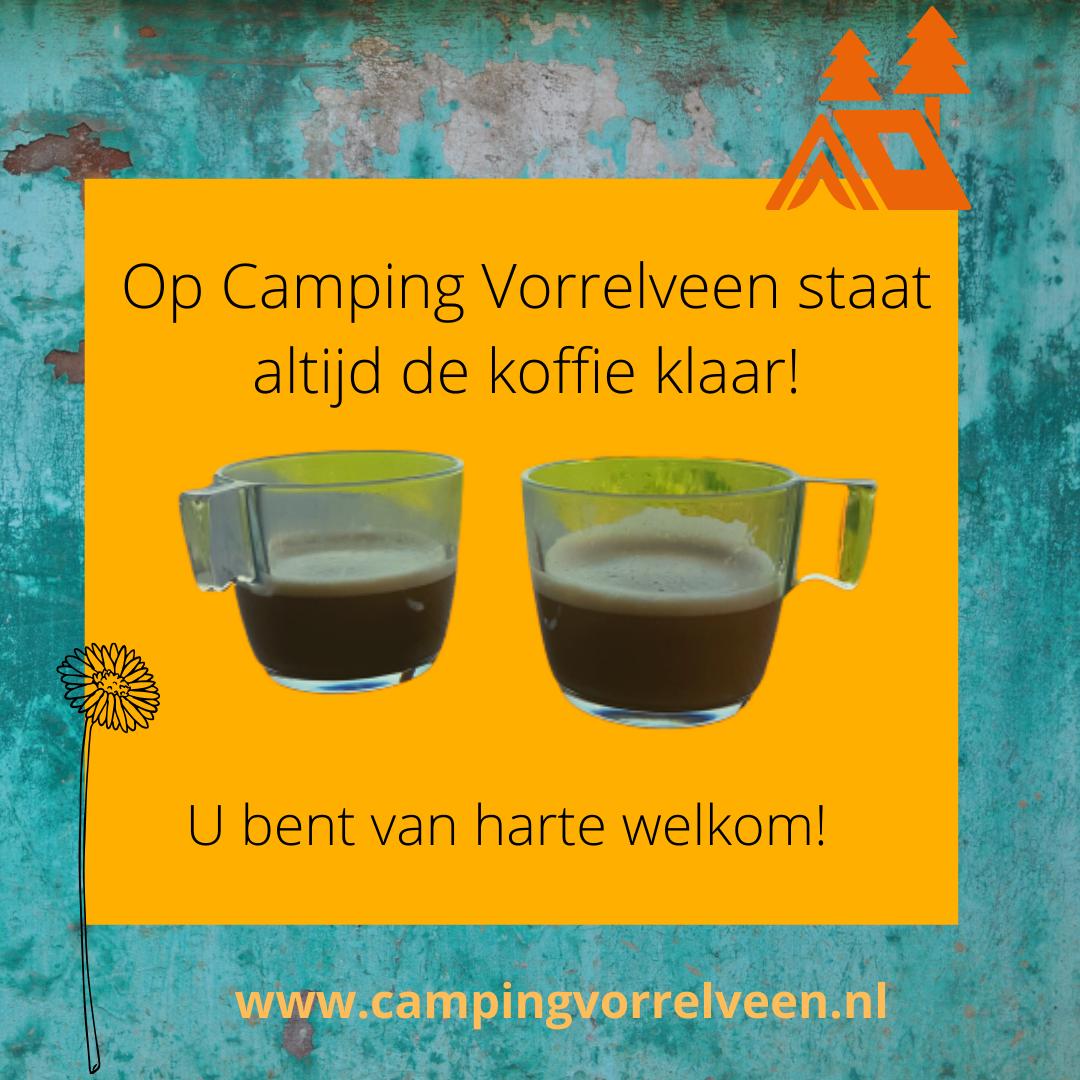 De koffie staat klaar op Camping Vorrelveen